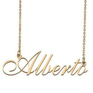 Custom Personalized Alberto Name Necklace